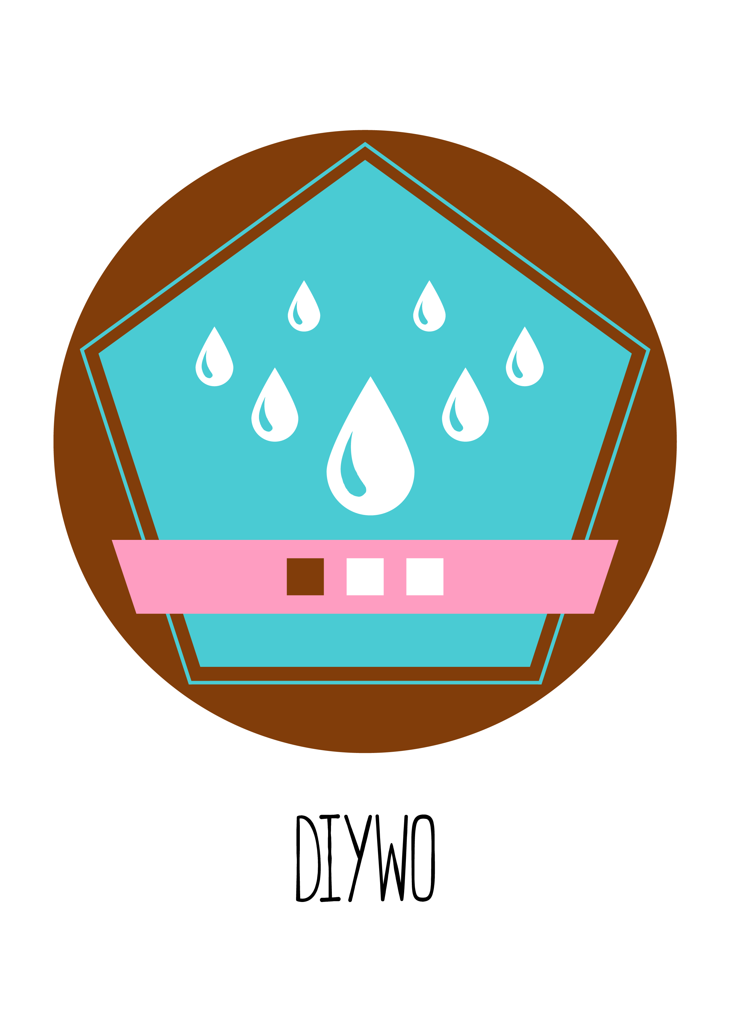 Badge DIYWO 1 lletres
