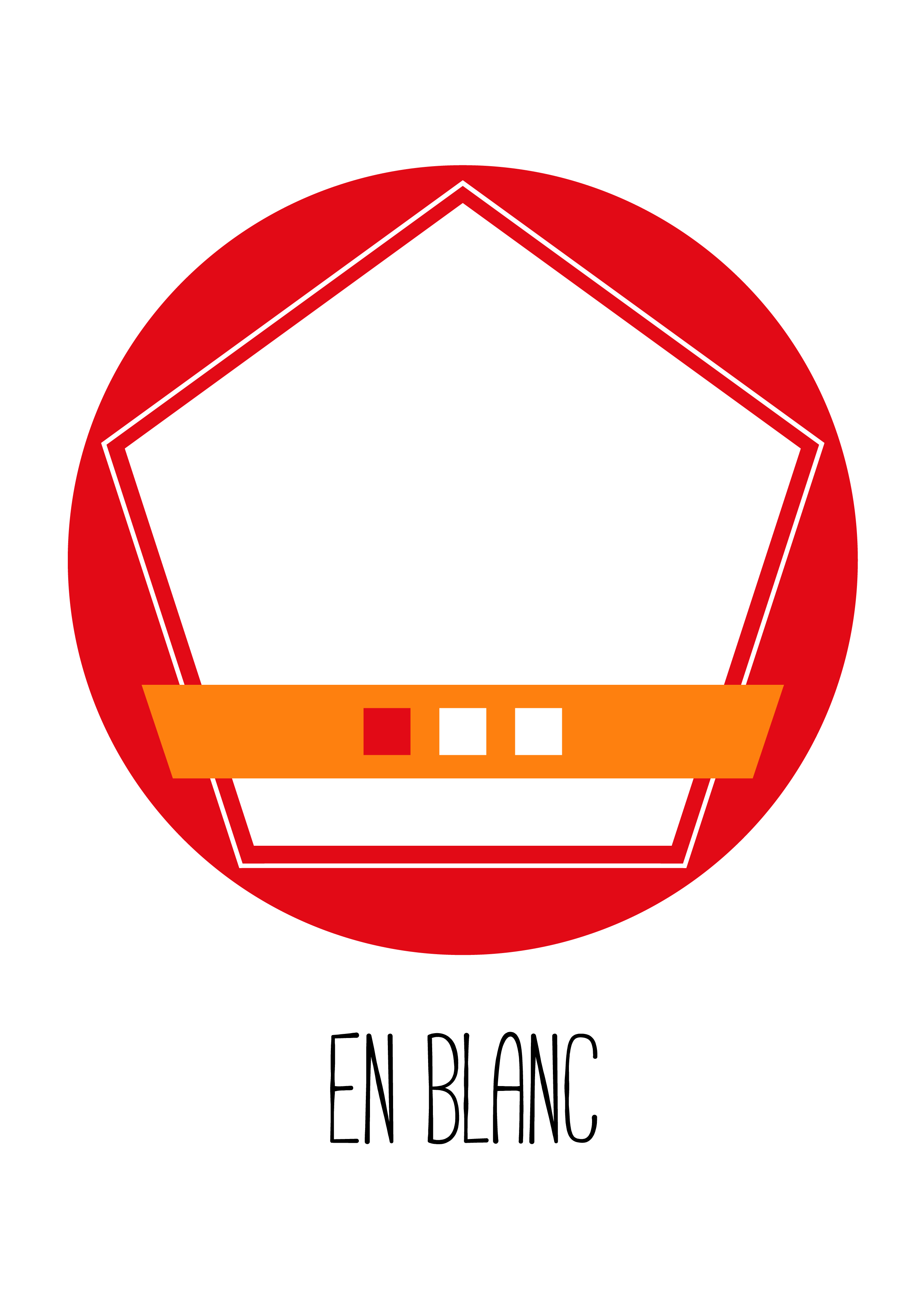 Badge En Blanc 1 lletres